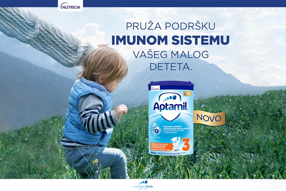 Aptamil pruža podršku imunom sistemu vašeg malog deteta